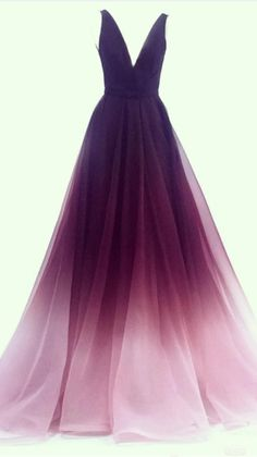 Ombre Prom Dresses, Pretty Prom Dresses, Ball Dresses, Elegant Dresses, Homecoming Dresses, Evening Dresses, Ombre Gown, Chiffon Dresses, Dresses Dresses