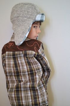 adorable shirt & trapper hat