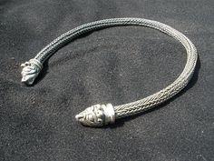 Massive Silver Viking knit Necklace bear by vikingknit