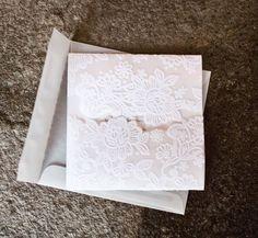 Handmade wedding invitations.