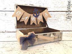 Nautical Wedding Card Box Coastal Wedding Nautical by LoRustique, $45.50 @Kim Rothfus What do you think?