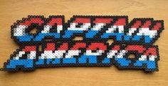 Captain America Logo Perler Bead