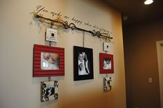 Curtain Rod Photo Display