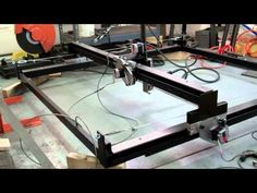 """Dry"" run on the plasma CNC. Rapids software capped at 720 IPM - YouTube"