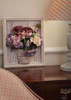 You can use the classic frame in your living room. See our gallery for new ideas to do. We share with you frame decors for living room, frame design ideas, living room frame ideas in this photo gallery.Fler-d-orang - Дневник Fler-d-orangSimple Clay Crafts, Home Crafts, Diy Home Decor, Diy And Crafts, Flower Frame, Flower Boxes, Flower Art, Vasos Vintage, Fabric Flowers