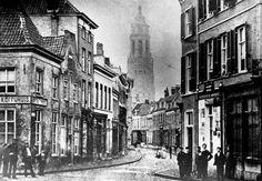De Koningstraat in 1860 (een heel oude foto)