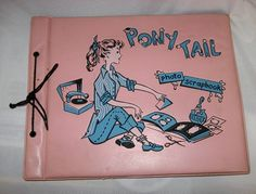 Scrapbooking didn't just start in recent years...in the 50s we teens all had to have these scrapbooks--