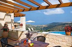 Villa Thimari Kreta Pergola, Villa, Outdoor Structures, Outdoor Decor, Home Decor, Crete, Decoration Home, Room Decor, Outdoor Pergola