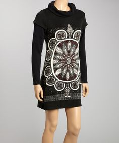 Love this Black Arabesque Layered Shift Dress by Aryeh on #zulily! #zulilyfinds