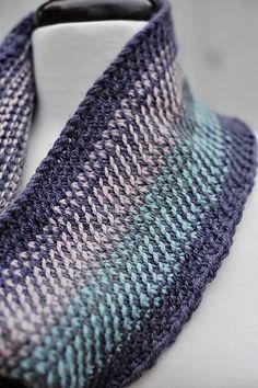 Ravelry: Scrappy Split Stitch Cowl pattern by Barbara Benson