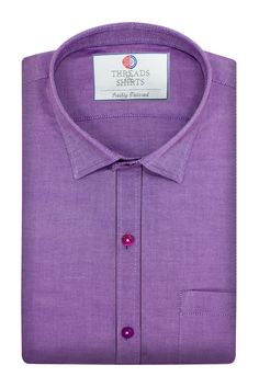 Purple Morris - ₹3,020/-  This fabric is a product of Raymond's Mills. The color is spot on, too. With alternating rich purple and light purple yarns used, it has a really subtle color variation that we absolutely love. #Business #Casual #Shirt #Shirts #Corporate #Fabrics #Luxury#Handcrafted #Custommade #Fashion #Style #Custom #Checks #Solids #Pastels #Checkered #Fun#Quirky #Men #Women #MenFashion #WomenFashion