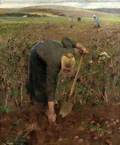 Sir Gorge Clausen - 1887_gathering_potatoes