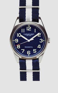 Spalding & Bros Regimental Quartz Watch Ømm39