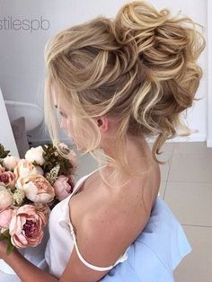 Messy Updo Hairstyles for Bridal - Wedding Hair Styles cute bridal hair styles frisuren haare hair hair long hair short Messy Wedding Hair, Wedding Hair And Makeup, Wedding Bun, 2017 Wedding, Wedding Shoes, Bride Makeup, Bridal Hair Updo High, Wedding Ideas, Wedding Venues
