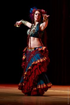 ❤️ ATS WildCard Bellydance Belly Dance Outfit, Belly Dance Costumes, Tribal Fusion, Dance Fashion, Boho Fashion, Navratri Dress, Belly Art, Tribal Skirts, Tribal Costume