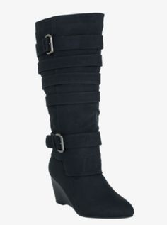 8fb51ba2636 Strappy Wedge Boots (Wide Width)- Torrid. These need me Wedge Boots