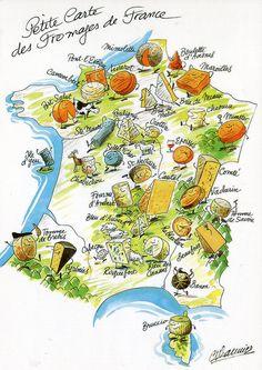 Petite carte des fromages de France