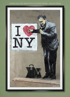 banksy graffiti street boy quote Art Silk Poster 12x18 24x36