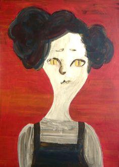 Carol #contemporaryart #pop #modern #portrait #illustration #painting #catgirl #minimalism #expressionism