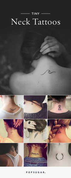 Tiny Neck Tattoo Inspiration We rounded up pictures of the coolest back of neck tattoos that are sure to inspire your next ink. From tiny to more elaborate, you'll love these tattoos. Little Tattoos, Mini Tattoos, Body Art Tattoos, Small Tattoos, Wrist Tattoos, Diy Tattoo, Get A Tattoo, Back Tattoo, Tattoo Ideas