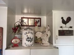 Rooster Themed Kitchen Decor from Diy Clay Figurines Beside Ceramic Flour…
