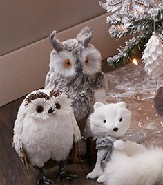 Crystal Chateau Collection   At Home Stores Woodland Creatures Arrange furry and feathered friends in groups of twos or threes for eye-catching arrangements.