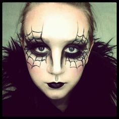 Spider Halloween Make Up - http://ikuzomakeup.com/spider-halloween-make-up/
