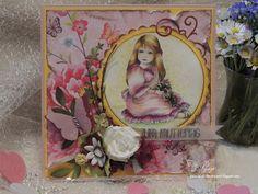 Karte, Muttertag, Blumen, sommerlich, Schmetterling, Vintage, Stempel, handgemacht, Card, handmade, Summer, mother's day, flowers, paper, stamp