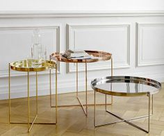 Habibi Tray Table use as two side tables in living room