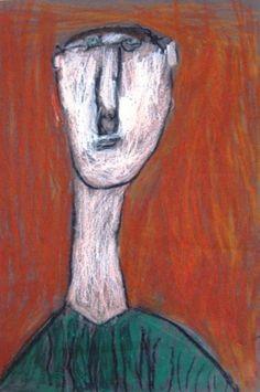 Modigliani-style portrait