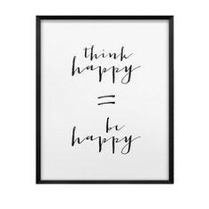 LAMINA THINK HAPPY 21X29.7