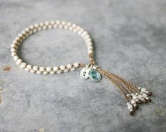 Bracelet Initial, Tassel Bracelet, Yoga Bracelet, Bracelet Crafts, Beaded Bracelets, Gypsy Bracelet, Dainty Diamond Necklace, Diamond Cross Necklaces, Yoga Armband