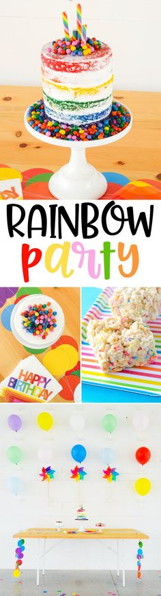 KIDS PARTY IDEAS: Rainbow Theme