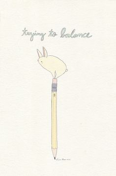 Trying to balance by Luisa Possas
