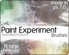 Paint Experiment Brushes by austin-outloud.deviantart.com