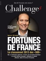 Challenges magazine's July 2013 list of the top 500 fortunes in France (in French)