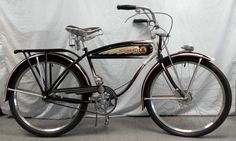 "Vintage 1930's Schwinn Henderson 26"" Motorbike AutoCycle Complete Men's Bicycle #Schwinn"