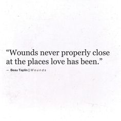 Beau Taplin | Wounds