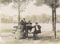 On the Esplanade des Invalides, Paris, France. 1906.