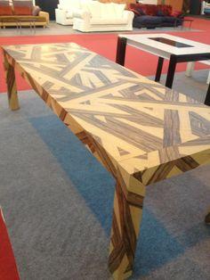 Mesa de madera realizada con el modelo Join Mix Limba