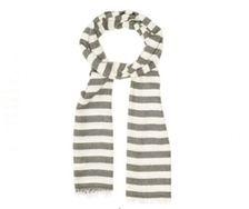 Scarf - men/women - striped grey - Glen Prince