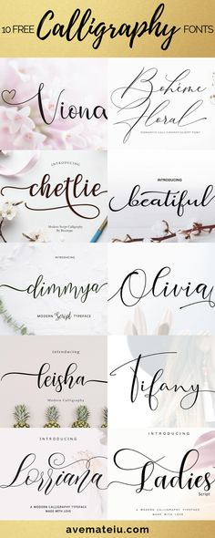 10 New FREE Beautiful Calligraphy Fonts – Part 3 - 10 New Free Calligraphy Fonts – Art, Fonts and Calligraphy, Typography, Handwritten Fonts, Alphab - Best Free Script Fonts, Fancy Script Font, Wedding Script Font, Wedding Fonts Free, Best Fonts, Elegant Cursive Fonts, Elegant Fonts Free, Top Free Fonts, Romantic Fonts