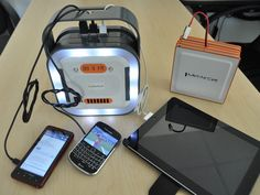 Emergency Mobile Device Charger for Power Outages, Disasters by Kevin Maloney, via Kickstarter.  World's Most Powerful 55,000 mAh Portable Zinc-Air Battery Charger. Stay Connected, Informed, Entertained When Power Lines Are Down.