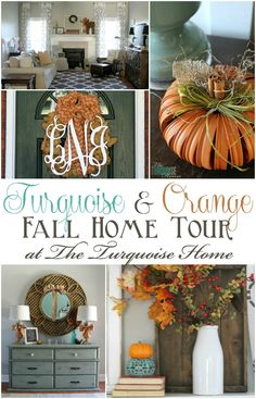Turquoise and Orange Fall Home Tour | TheTurquoiseHome.com