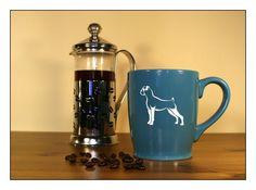 Boxer Dog Coffee Mug - #2 - Etched 17 oz Coffee Mug - Large Tea Cup - Ceramic Coffee Mug - Great Gift for Animal Lovers - pinned by pin4etsy.com