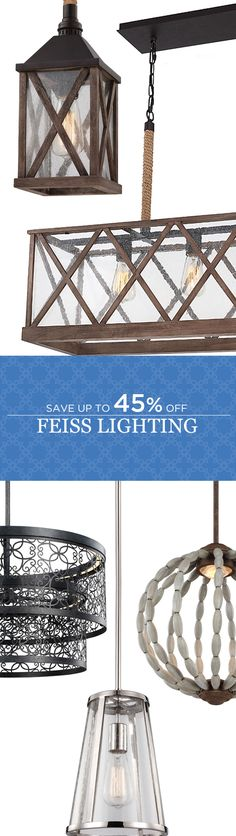 Cyber Monday Deals continue! Enjoy great savings thru December 6th. Save Up to 45% Off All Feiss Lighting! Free Shipping* and Extended Returns. Best deals of the season. Sign up for our newsletter and save 15% today! A one time 15% offer promo code valid for 30 days.