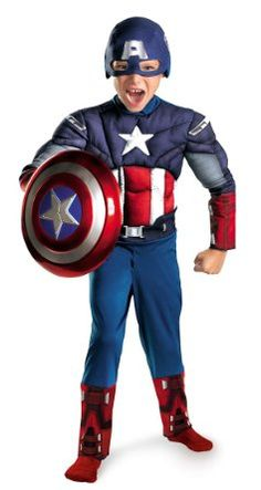 Captain America costume!! Halloween clearance maybe?? He already has shield and is getting the mask for Christmas...