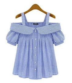 Blusas camisas · ropa linda · blouse off shoulder women plus size 2017 new fashion plaid pattern ladies sexy off the shoulder Kids Outfits, Casual Outfits, Cute Outfits, Fashion Outfits, Baby Girl Dresses, Baby Dress, Diy Clothes, Clothes For Women, Fashion Kids