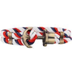 PAUL HEWITT PHREP Anchor Bracelet Navy Blue-Red-White