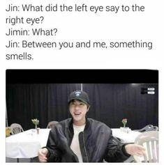 Billedresultat for bts jin dad jokes english Bts Memes Hilarious, Bts Funny Videos, Bts Jin, Jimin, Rapmon, Jin Dad Jokes, Pokerface, Dad Humor, I Love Bts